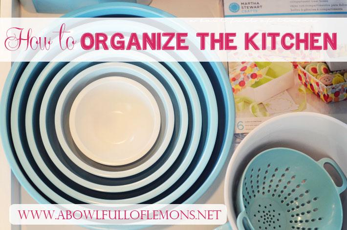 Home Organization 101: Kitchen Organization