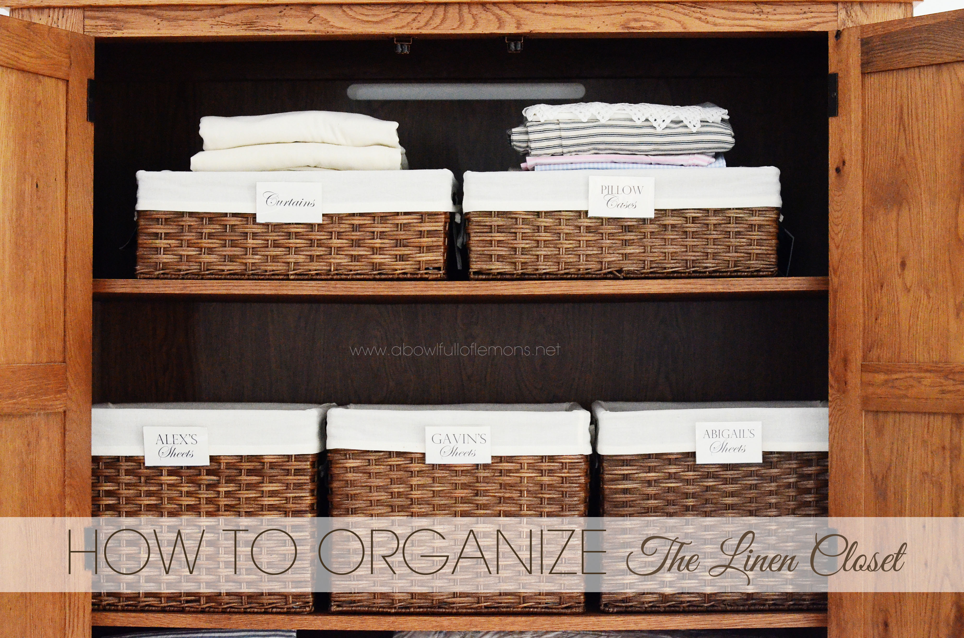 Linen closet organization ABFOL