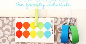 organizing your schedule