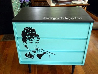 Teal Furniture one project at a time… tuesday link party. (furniture makeovers in