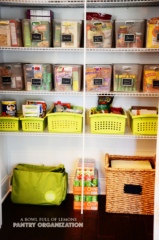 Home Organization Revisited Week 3 The Pantry A Bowl