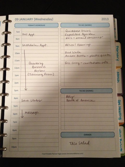 organized planners
