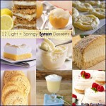 12 Light + Springy Lemon Desserts