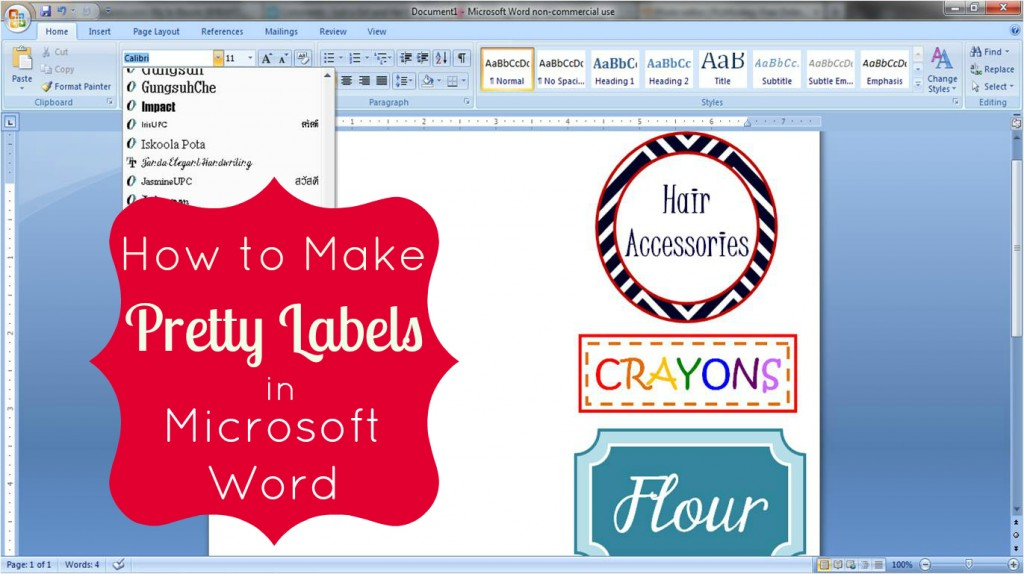 Free Microsoft Word Label Templates - Microsoft office label templates
