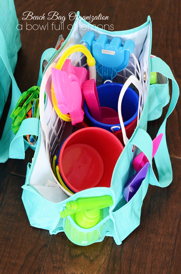 Beach & Pool Bag Organization... | A Bowl Full of Lemons