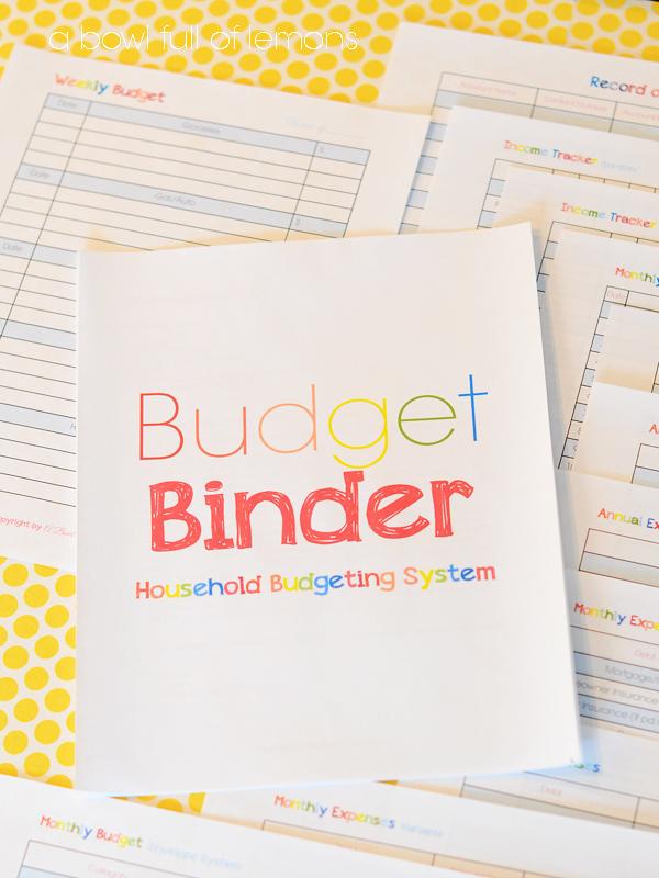 Budget Binder: Household Budgeting Planner | A Bowl Full of Lemons