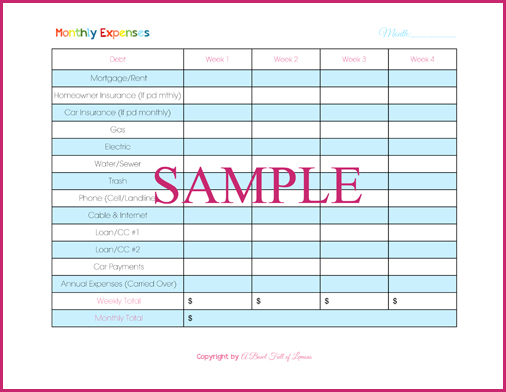 list of household expenses template - household budgeting day 4 annual monthly expenses a