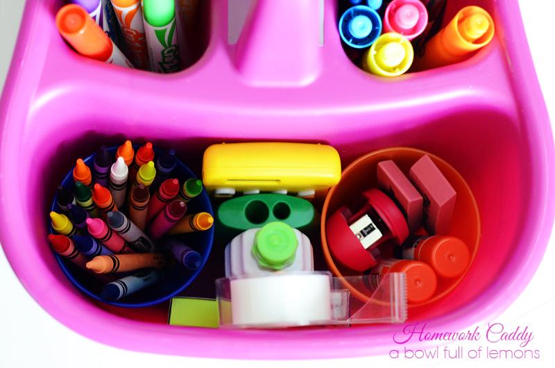Portable Homework Caddy - Princess Pinky Girl