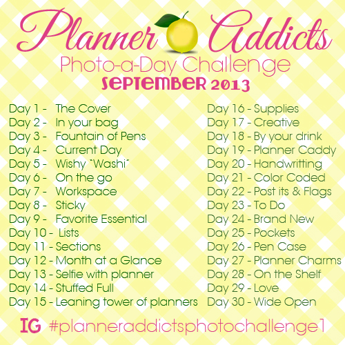 Planner Addicts Photo-a-Day Challenge