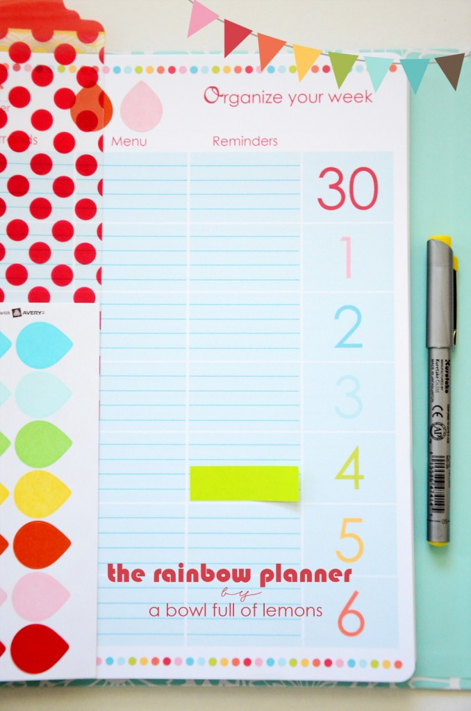 Rainbow Planner -  A Bowl Full of Lemons 3