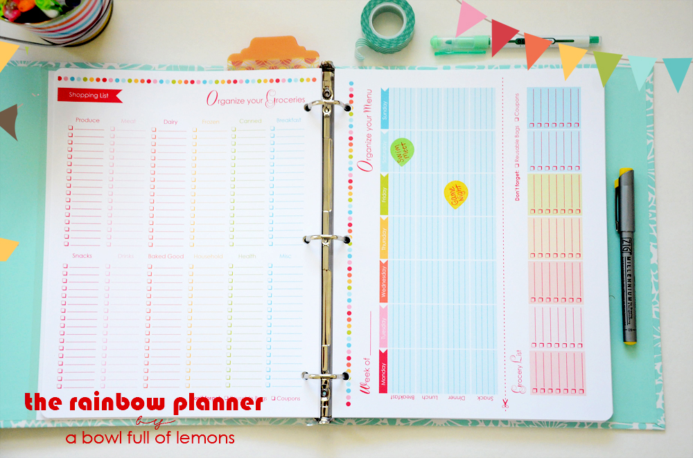 picture about A5 Planner Printables known as The Rainbow Planner A Bowl Total of Lemons