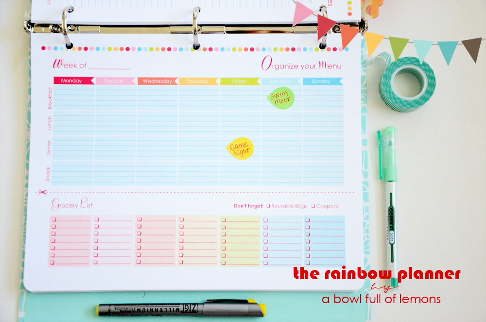 Rainbow Planner -  A Bowl Full of Lemons 6