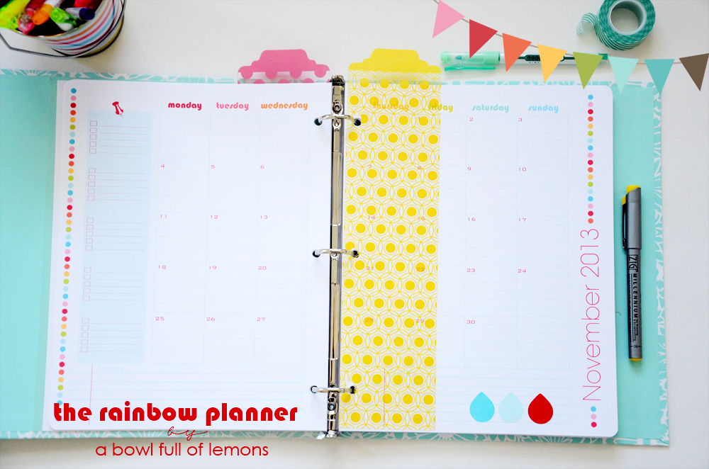 Rainbow Planner -  A Bowl Full of Lemons 7