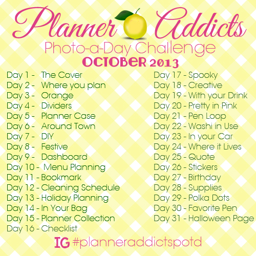 Planner Addicts Photo Challenge October - ABFOL