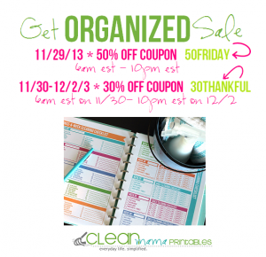 clean mama  black friday get organized sale