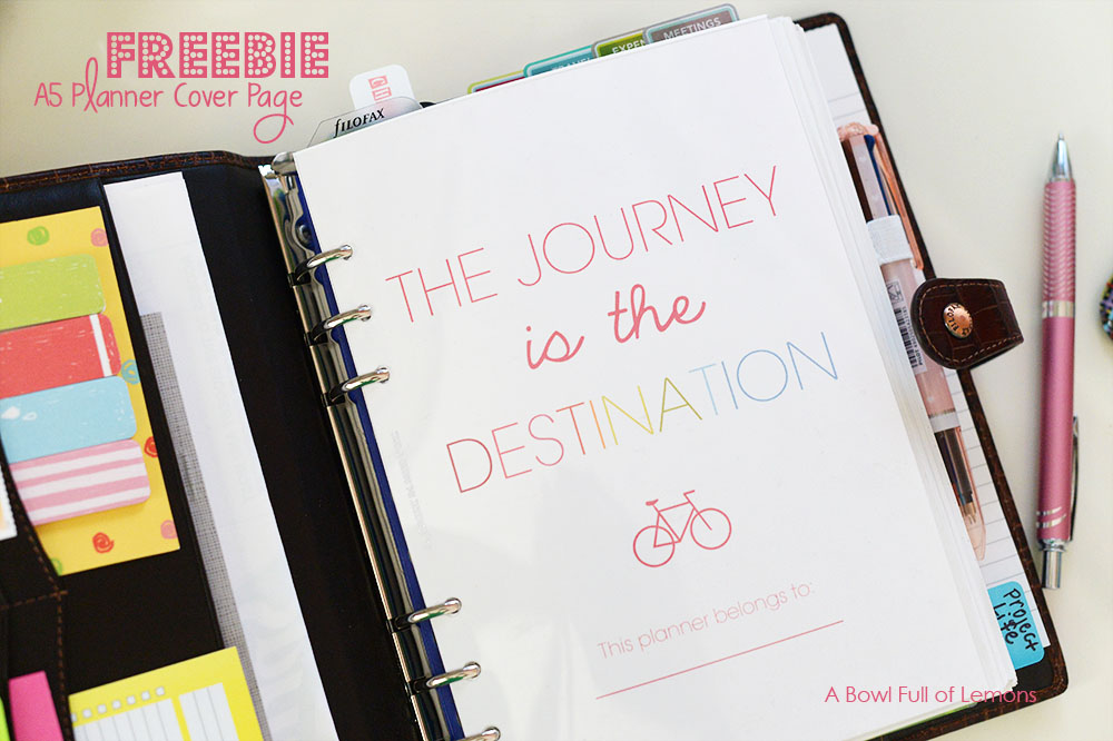 The Journey is in the Destination FREEBIE planner printable - ABFOL