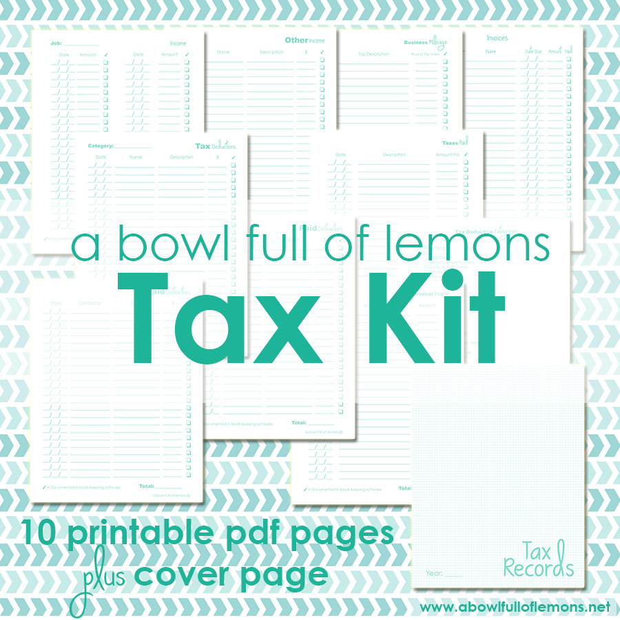 A Bowl Full of Lemons - Tax organization Kit