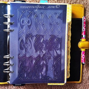 DIY filofax dahsboard via A Bowl Full of Lemons
