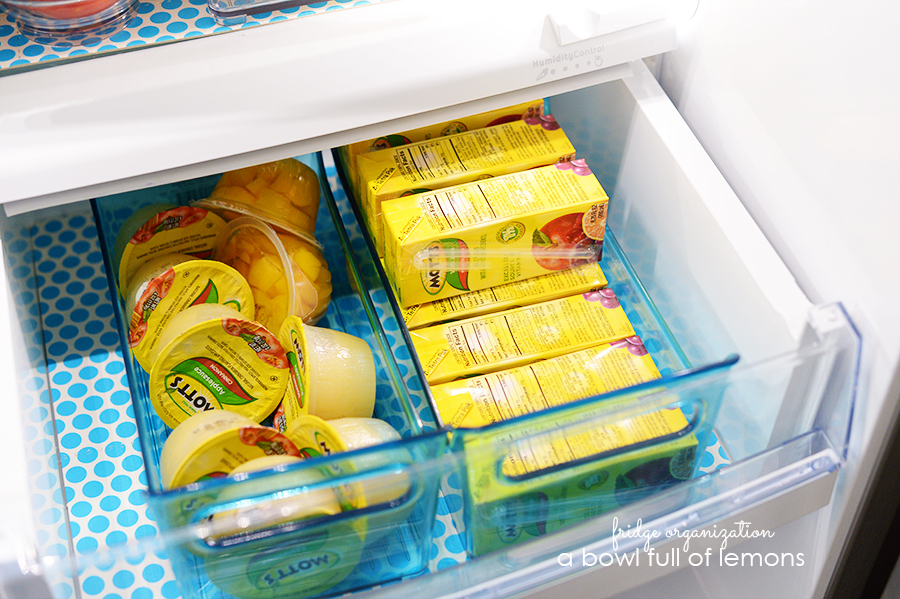 Fridge Organization by A Bowl Full of Lemons