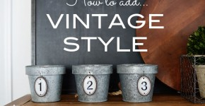 How to add vintage style to a builders grade kitchen by A Bowl Full of Lemons preview