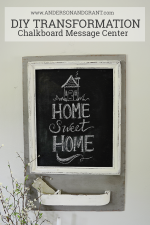 DIY Transformation Chalkboard Message Center from Anderson and Grant