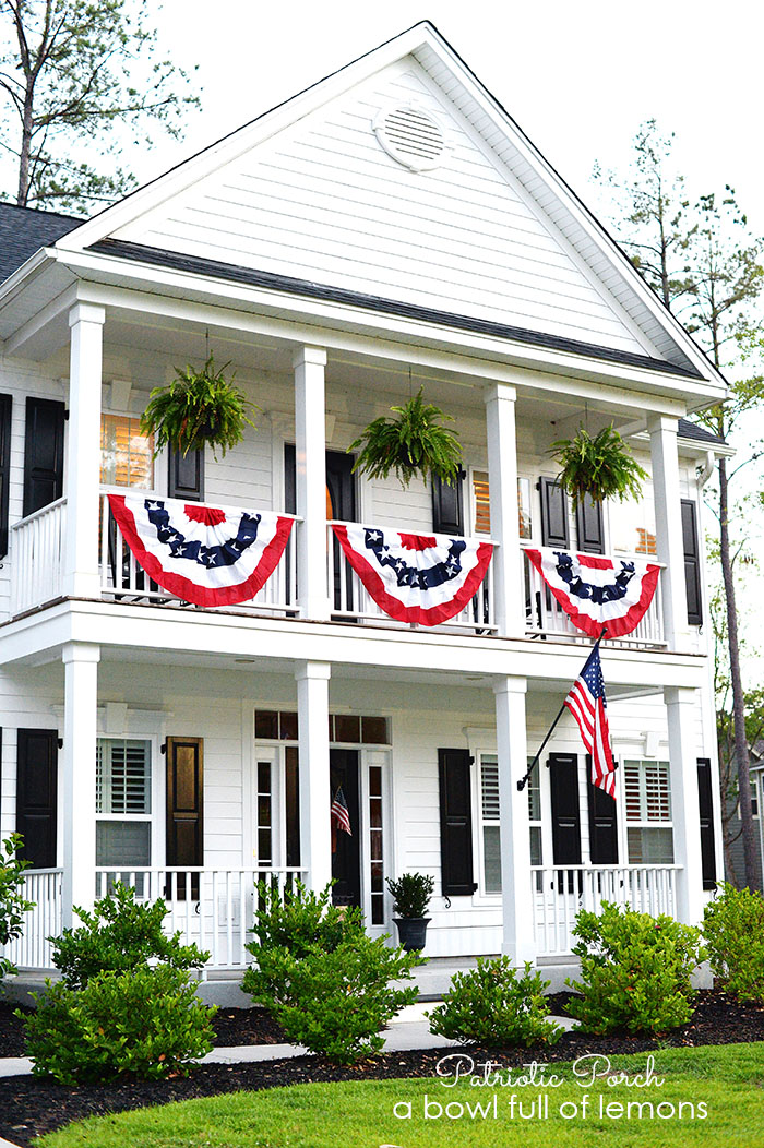 Patriotic Porch via A Bowl Full of Lemons