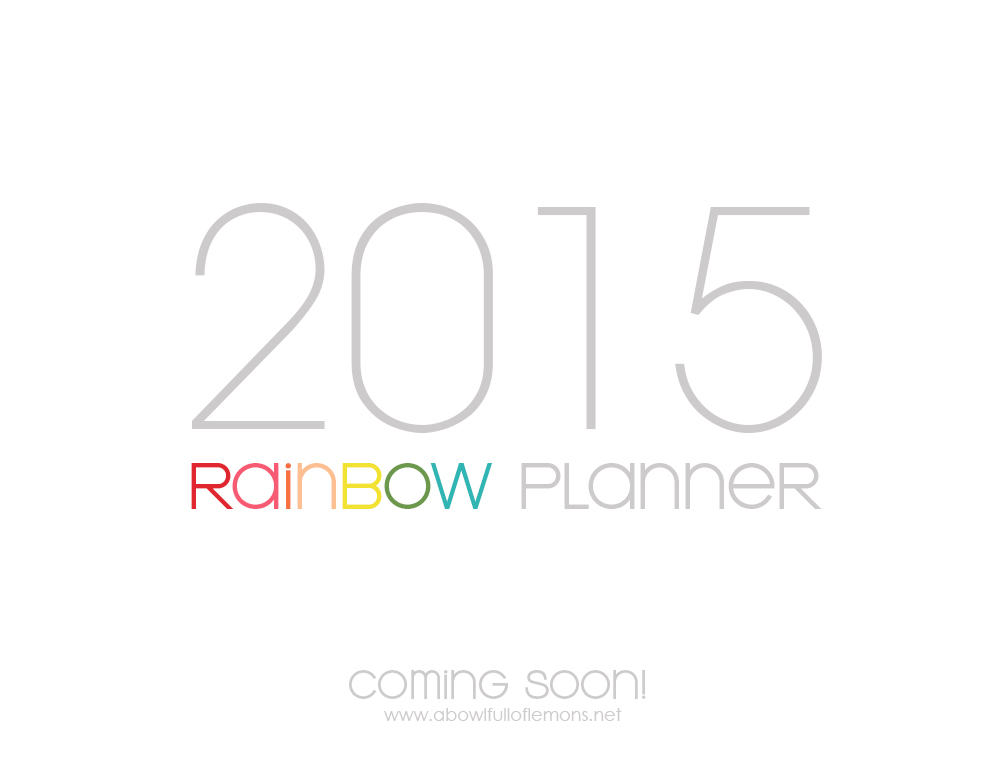 2015 Rainbow Planner coming soon
