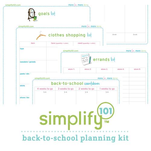 Simplify 101 Printables