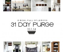 A Bowl Full of Lemons 31 Day Purge