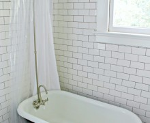 Historic Bathroom Redo via A Bowl Full of Lemons OPAAT