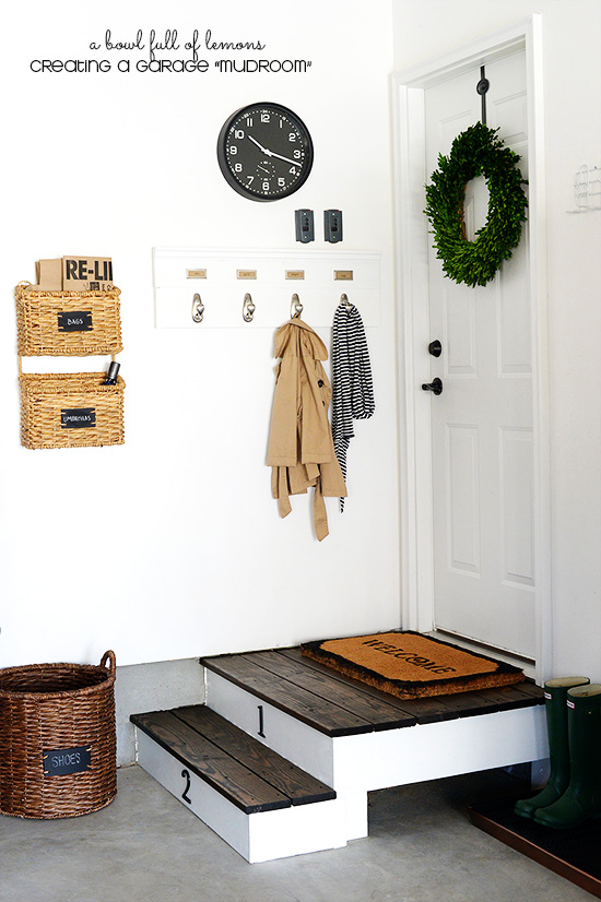 Creating a Garage Mudroom via A Bowl Full of Lemons