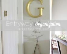 Organized entryway on A Bowl Full of Lemons