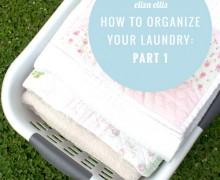 organize laundry