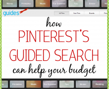 How using Pinterest can help you stay on budget- A Bowl Full of Lemons
