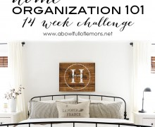 Home Organization 101 14 Week Challenge via A Bowl Full of Lemons