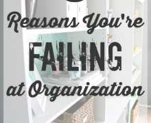 5-Reasons-Youre-Failing-at-Organization-link party on A Bowl Full of Lemons
