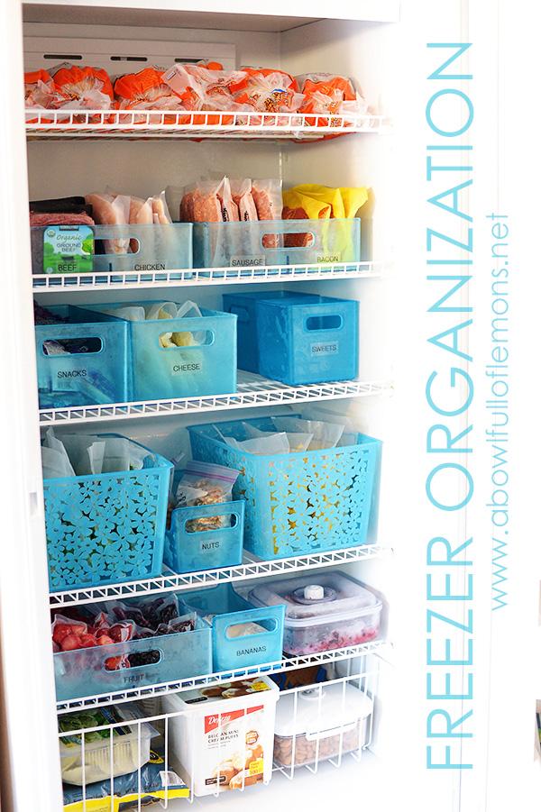 Freezer Organization via A Bowl Full of Lemons