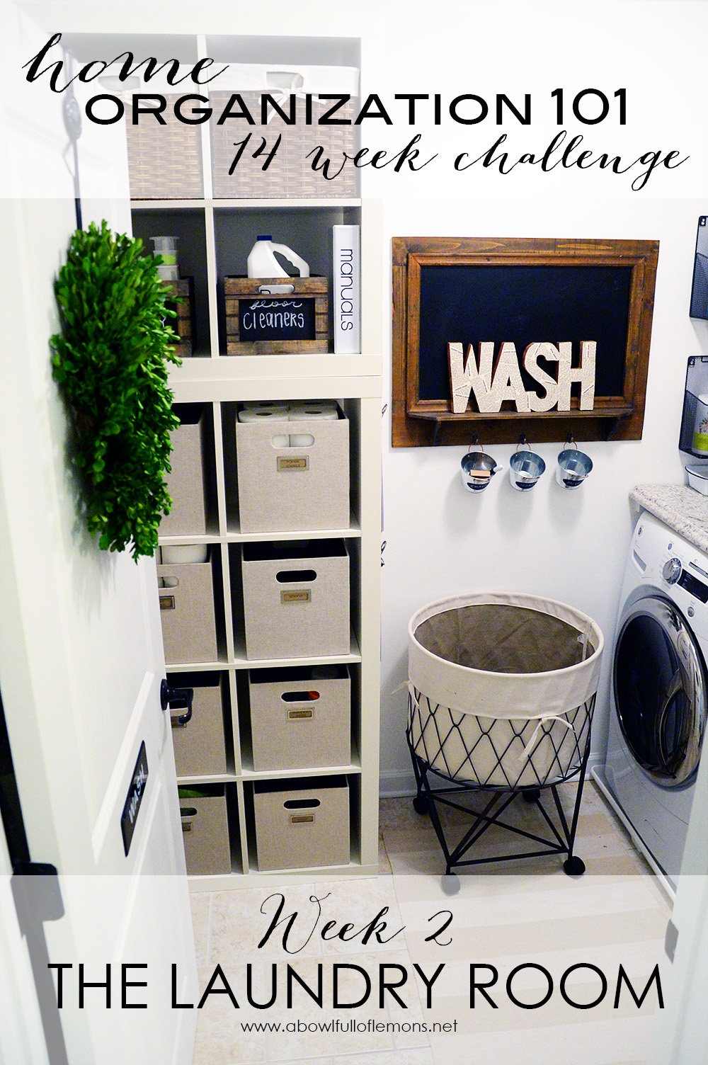14 Week Organizing Challenge Week 2: The Laundry Room   A Bowl Full ...