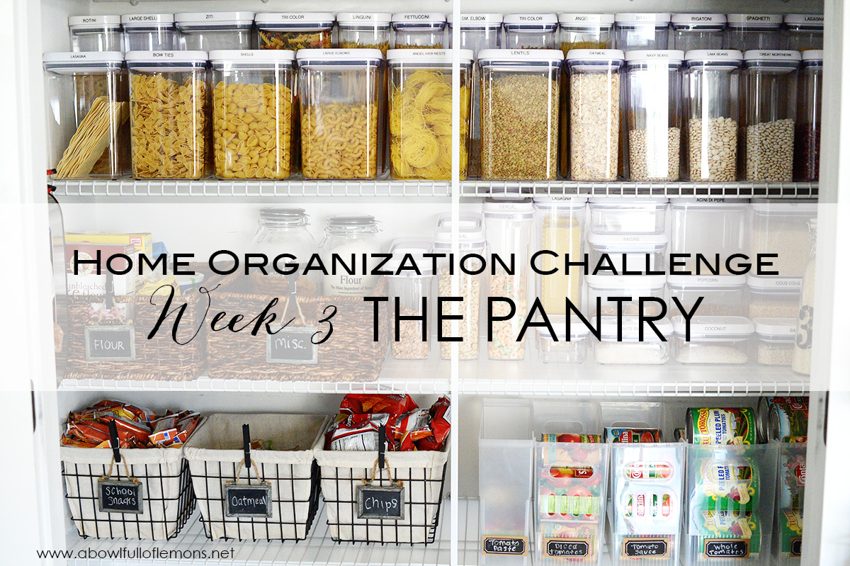 Home organizing challenge week 3 the pantry a bowl full Small home organization