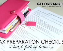 Tax Preparation Checklist via A Bowl Full of Lemons