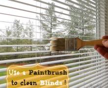 paintbrush-cleans-blinds via A Bowl Full of Lemons link party (1)