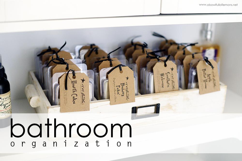Home Organizing Challenge Week 7: Bathrooms   A Bowl Full of Lemons