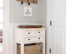 Create and decorate your entryway via A Bowl Full of Lemons link party