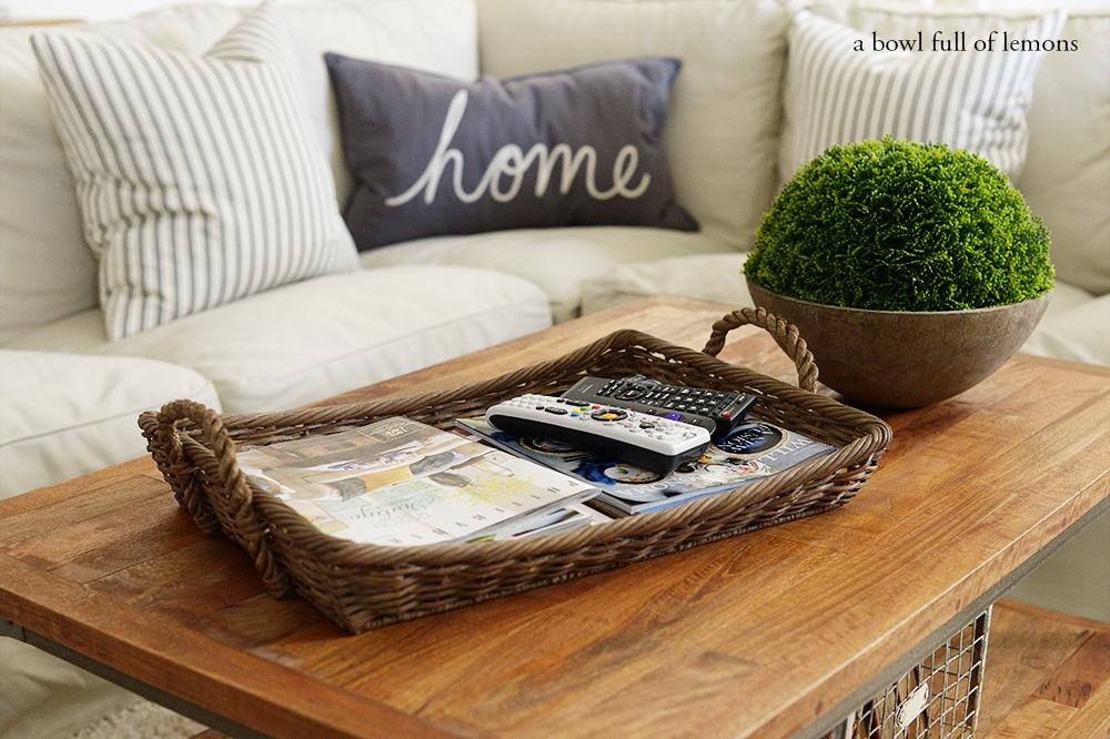 Living Room Organization Via A Bowl Full Of Lemons 9