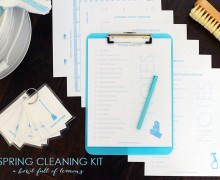 Spring Cleaning Printable Kit via A Bowl Full of Lemons