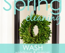 Spring Clean in 30 Challenge:  Day 18 Wash windows & mirrors via A Bowl Full of Lemons