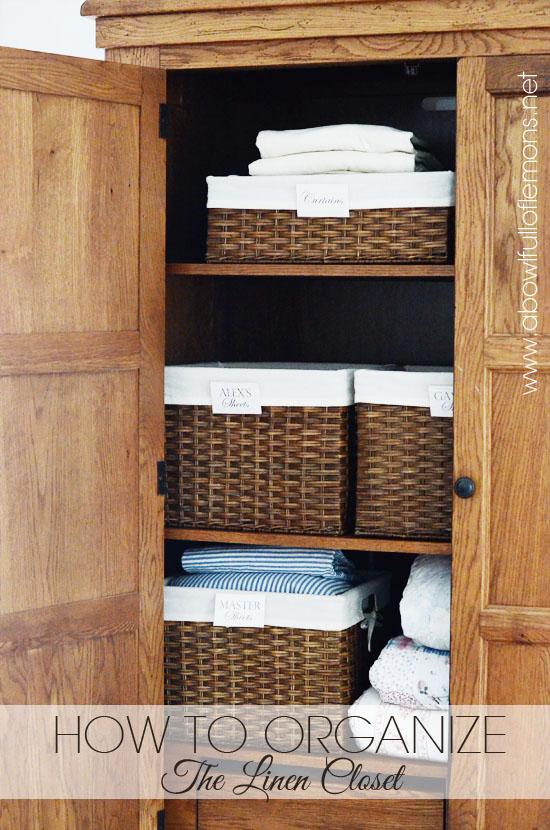 Home Organizing Challenge Week 10 Linen Closet A Bowl