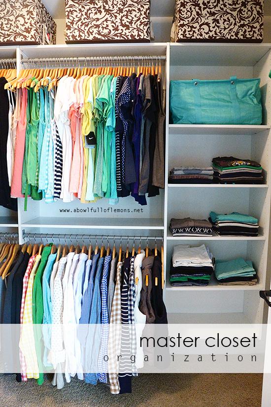 Home Organizing Challenge Week 12: Master Closet : A Bowl ...