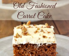 Old Fashioned Carrot Cake via A Bowl Full of Lemons link party