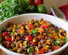 black-bean-salad via A Bowl Full of Lemons link party